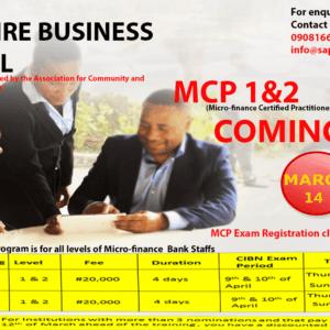 Micro-finance Certified Practitioners (MCP 1 & 2) Program